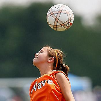 child playing sport