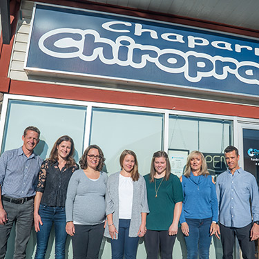 Chaparral Chiropractic Wellness Centre team outside office