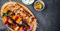 grilled kebabs on a plate