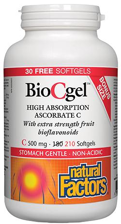 Photo of Natural Factors BioCgel Bottle