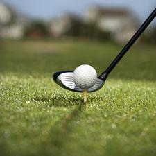 Golf ball on teaa