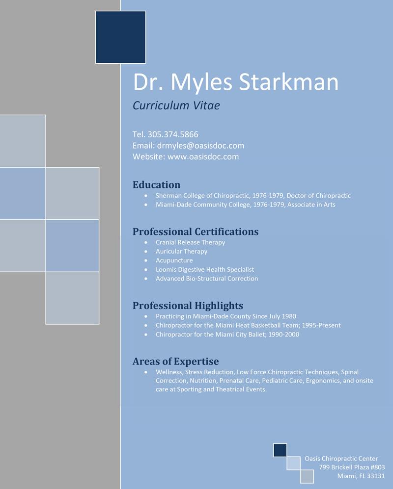 cv-dr-myles