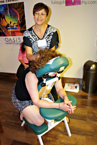 chair massage therapy