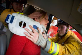 injured-woman-in-a-car
