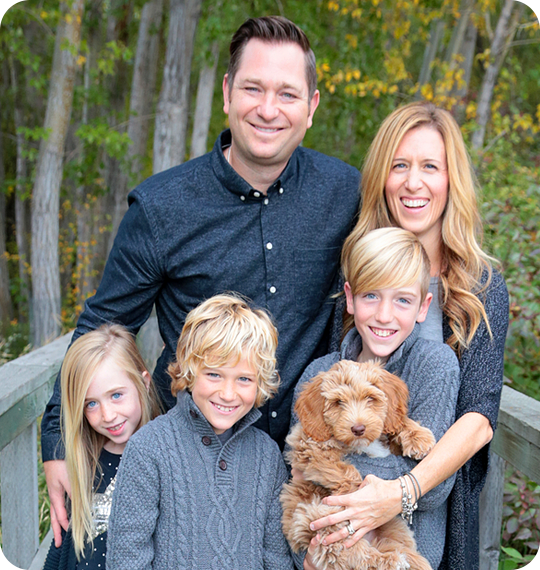 Dr. Wood with his family