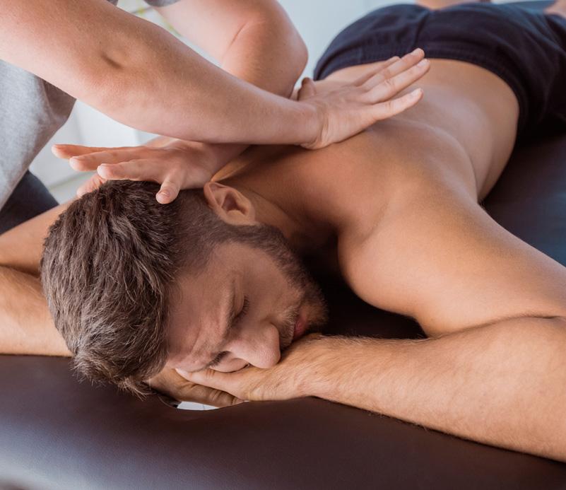 Patient receiving massage