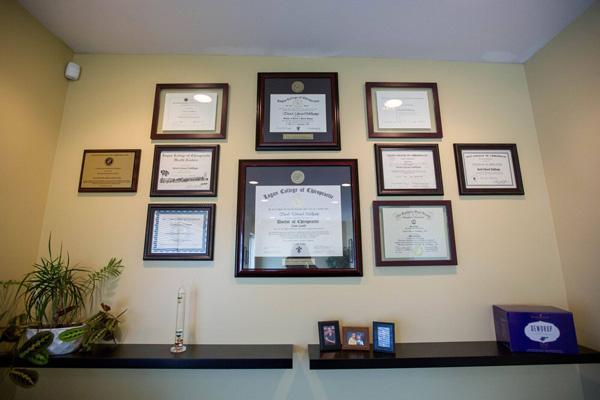 Dr. Dahlkamp Credential Wall