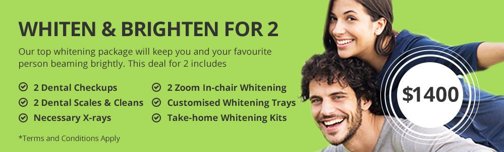 Whiten & Brighten for 2 special offer