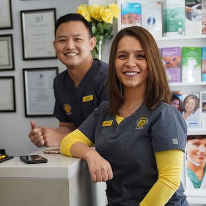 Dentists at front desk