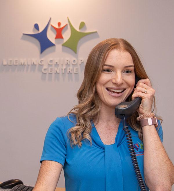 Staff on phone