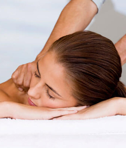 female patient getting a massage