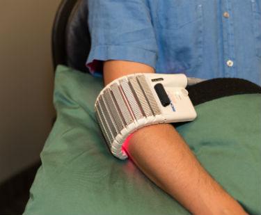Patient have laser treatment