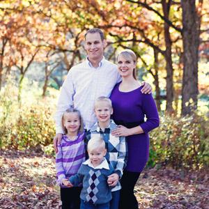 Johnston Chiropractor, Aaron Giddings and family