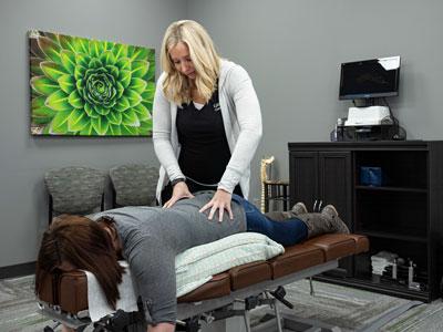 Adjustment on pregnant patient