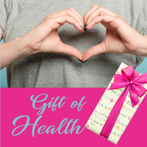 Heart hand and gift