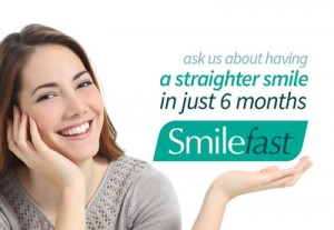 Woman with Smilefast promotion
