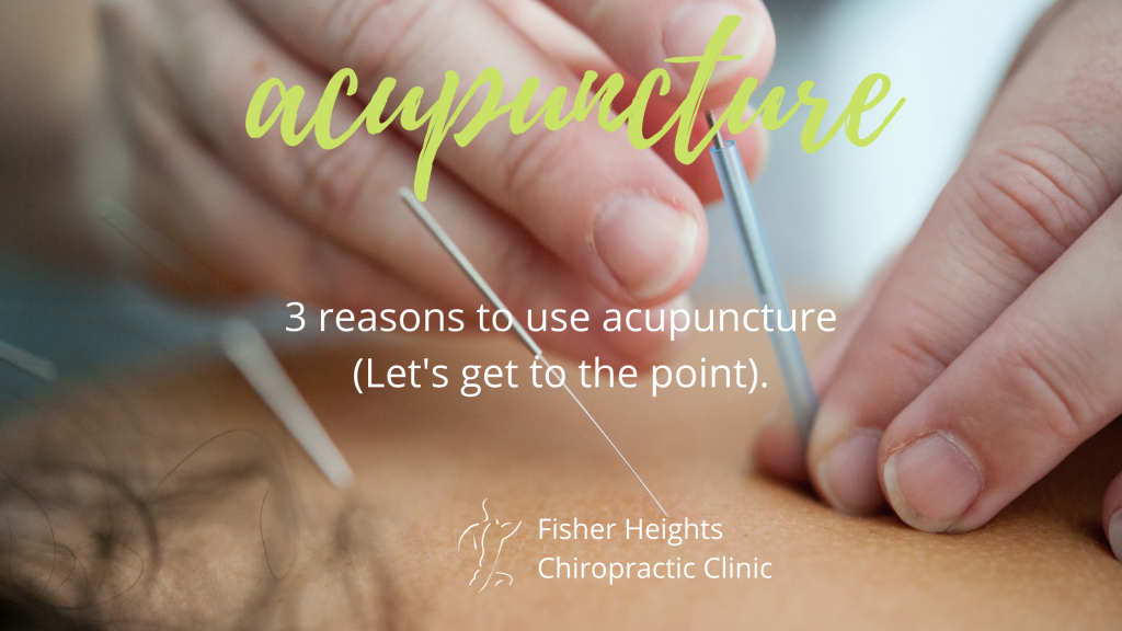 Acupuncture: let's get to the point.