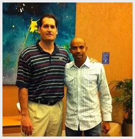 Dr. Green and the 2014 Boston Marathon Winner Meb Keflezighi