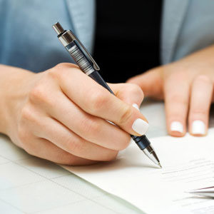 completing paperwork