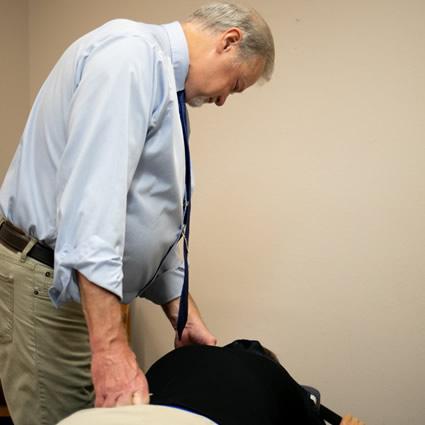 Patient on e-stim