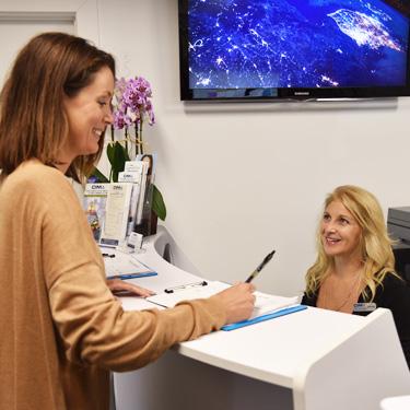 New patient at front desk