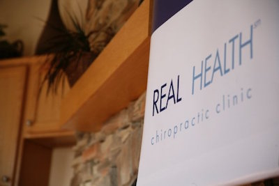 Real Health Chiropractic Clinic Signage