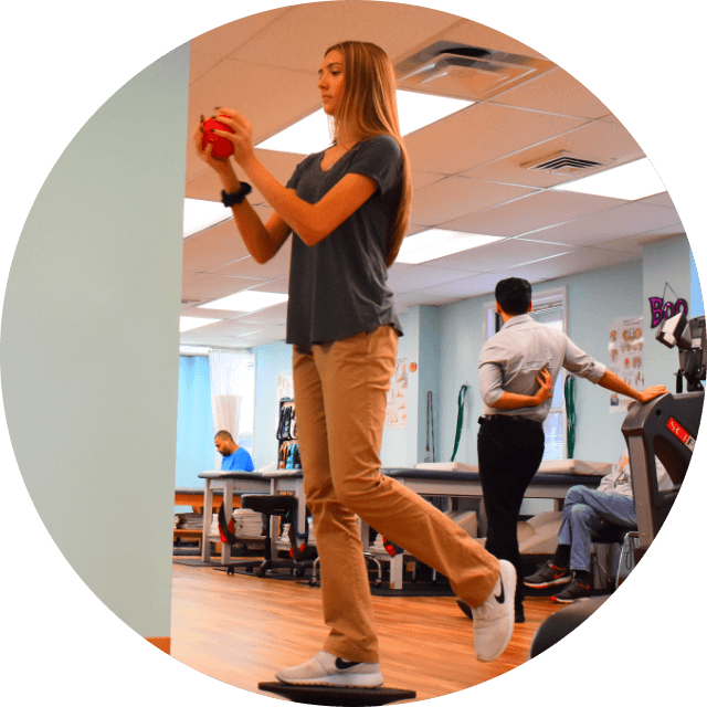 Patient balancing with ball