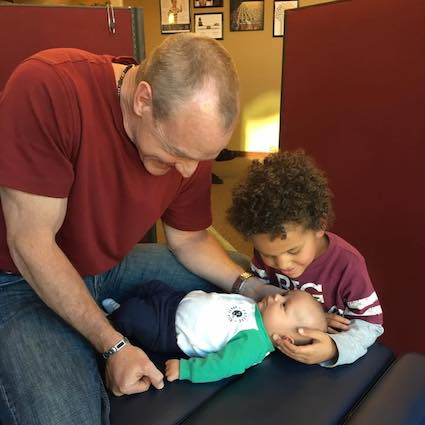 Doctor with Young Patients