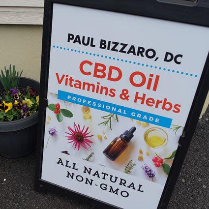 Paul M. Bizzaro, D.C.'s outside sign