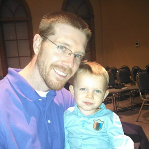 Dr. Chad Barfknecht and his son