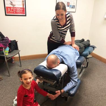 Dr. Jodi adjusting patient