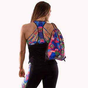 Thalia Print Drawstring Backpack
