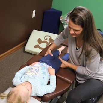 Pediatric chiropractic exam