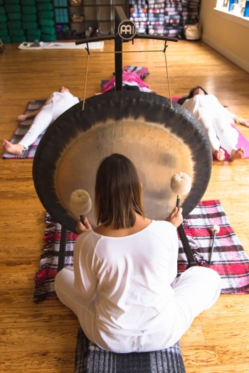 Susan and her sound wellness drum