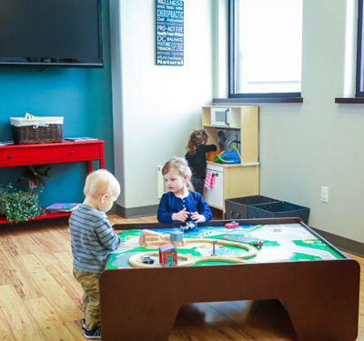 Kids Waiting area at Justice Family Chiropractic