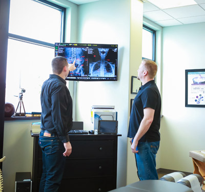 Review of Xrays with Chiropractor Kennewick