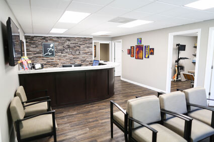 Davis Chiropractic Center reception and waiting area