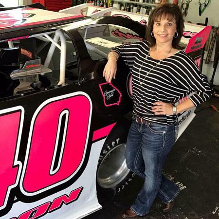 Tina Johnson, race car driver sponsored by Davis Chiropractic Center