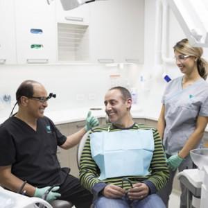 Dr Medhat talking to patient