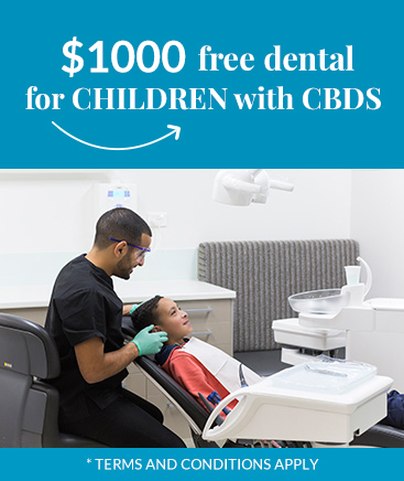 $1000 free dental for children with CBDS