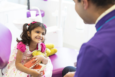 Young girl and Dr Kapadia