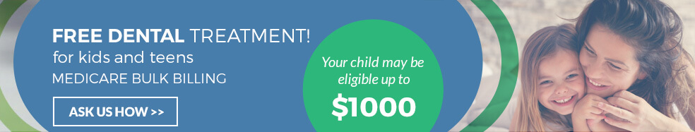 free dental treatment for kids and teens up to $1000