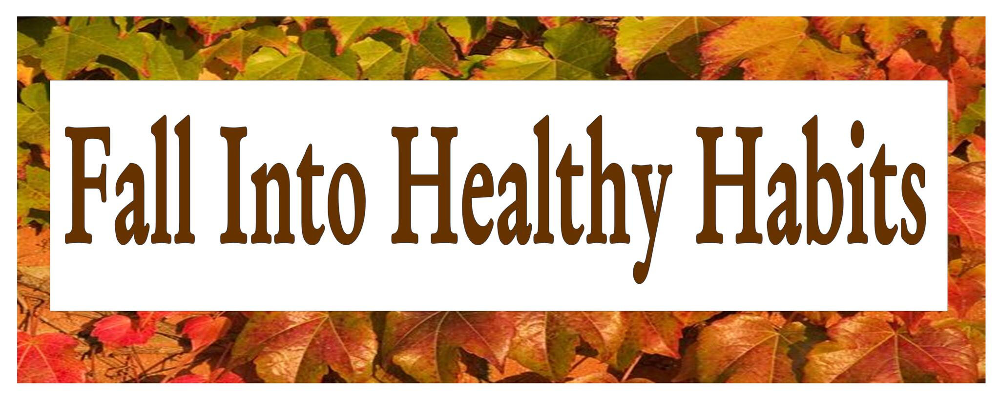 fall into health habits event banner