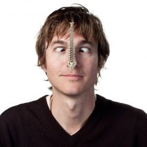 Man looking at his nose