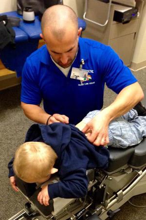 Dr. Nick adjusts Zayden