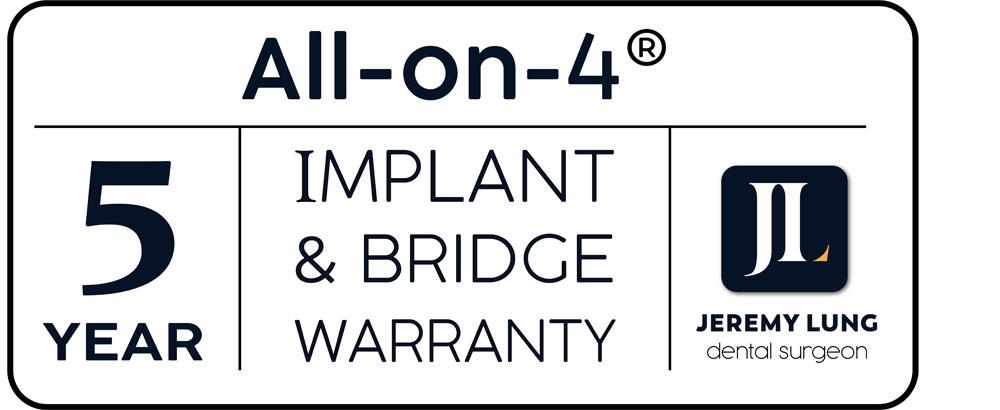 Implants warranty