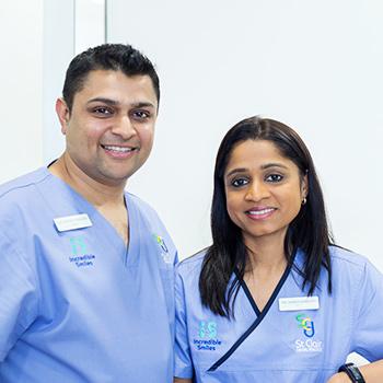 Dentists Munno Para West, Dr. Anisha and Dr. Mitesh
