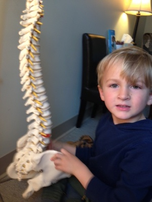 Child With Spine Model