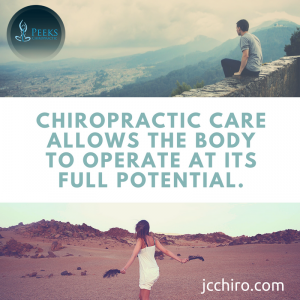 Chiropractic care allows your body to operate at it's full potential.