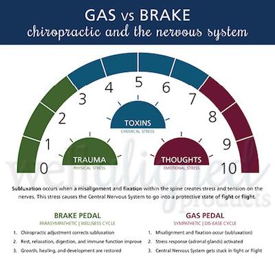 gas vs brake illustration